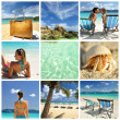 Resort collage — Foto Stock