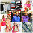 collage de compras — Foto de Stock
