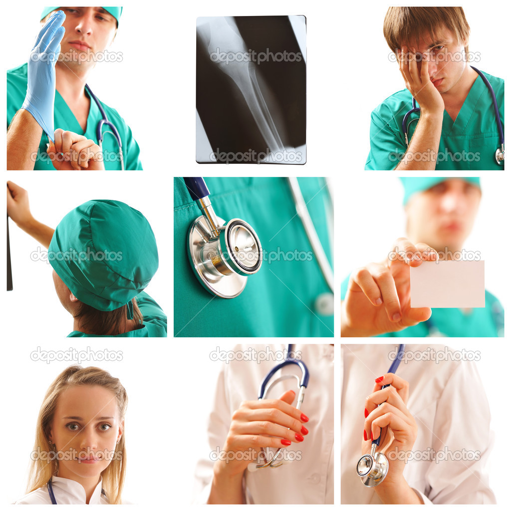 Collage made with medical related images — Stock Photo #3718098