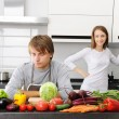 Couple cooking — Stock Photo #3743600