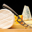 Various types of cheese — Stock Photo