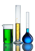 Chemical flasks — Stockfoto