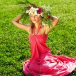 Meadow girl - Stock Photo