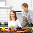 Couple cooking — Stock Photo #3840587