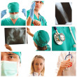 Medical collage — Stock Photo #3840720
