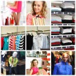 Shopping collage — Photo