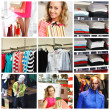 Shopping collage — Stock fotografie