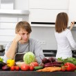 Couple cooking — Stock Photo #3898700