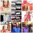 Shopping collage — Foto de Stock