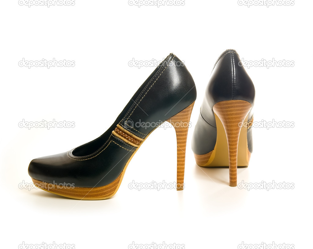Female shoes - Stock Image