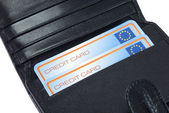 Wallet for bank cards — Stock Photo