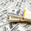 Background with many dollars — Stock Photo