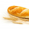 Bread and wheat ears isolated — Stock Photo #2696114
