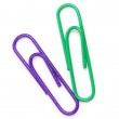 Extreme close-up of paper clips isolated — Stock Photo