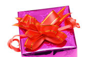 Close up of giftbox isolated — Stock Photo