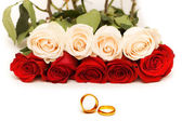Wedding concept with roses — Stock Photo