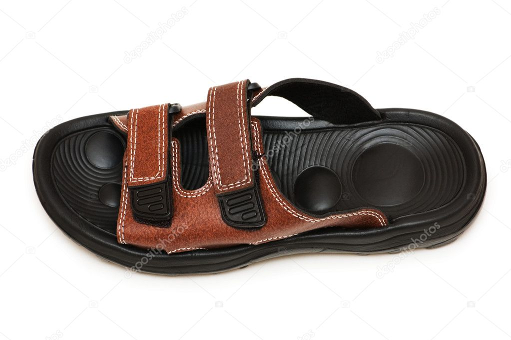 Beach sandal isolated on the white background — Stock Photo #2695402