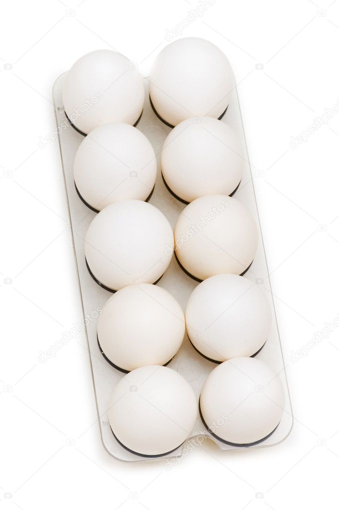 Group of eggs isolated on the white background — Stock Photo #2696033
