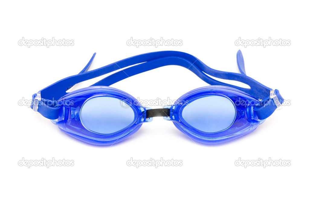 Swimming goggles isolated on the white background — Stock Photo #2696224