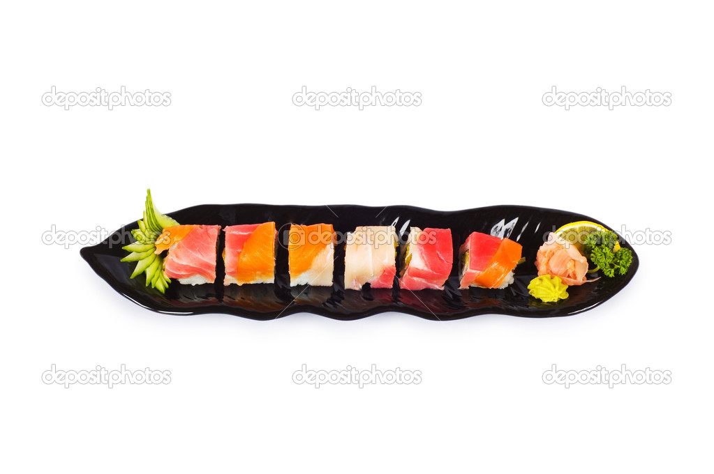 Sushi plate isolated on the white background — Stock Photo #2696477