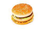 Double cheeseburger isolated — Stock Photo