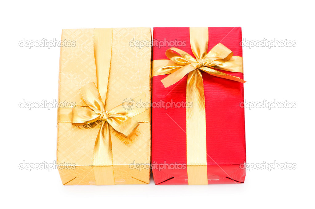 Gift box isolated on the white background — Stock Photo #2866440