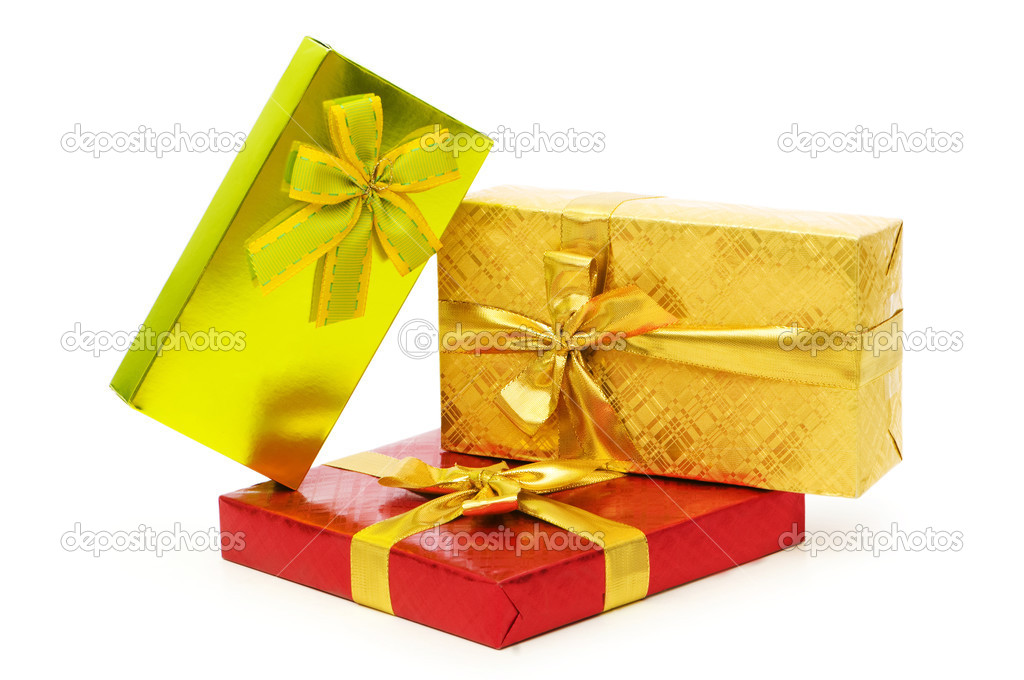 Gift box isolated on the white background — Stock Photo #2866550