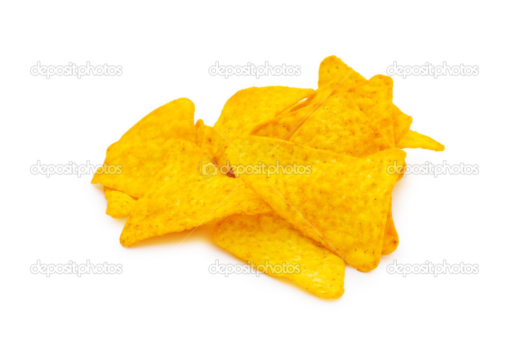 Heap of chips arranged on background — Stock Photo #2867125