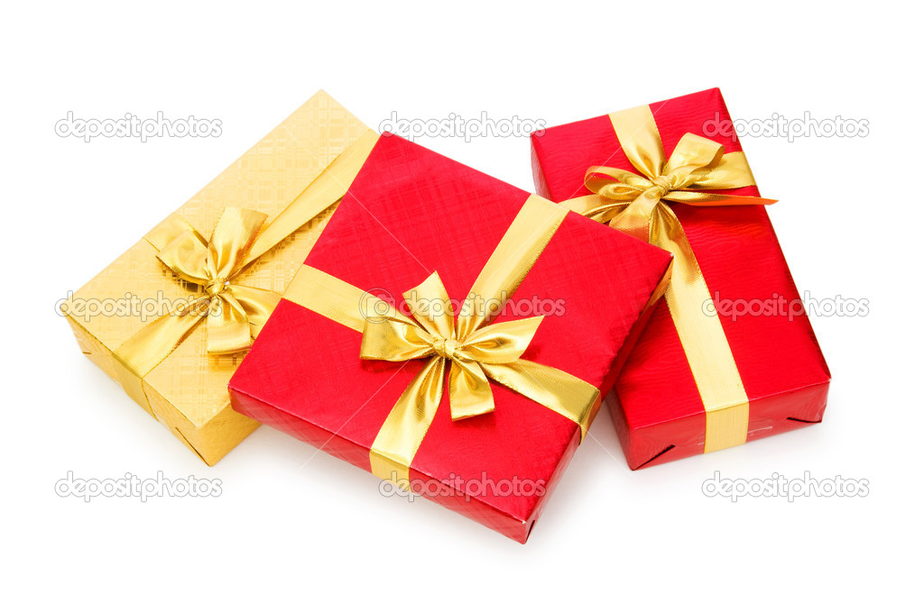 Gift box isolated on the white background — Stock Photo #2869208