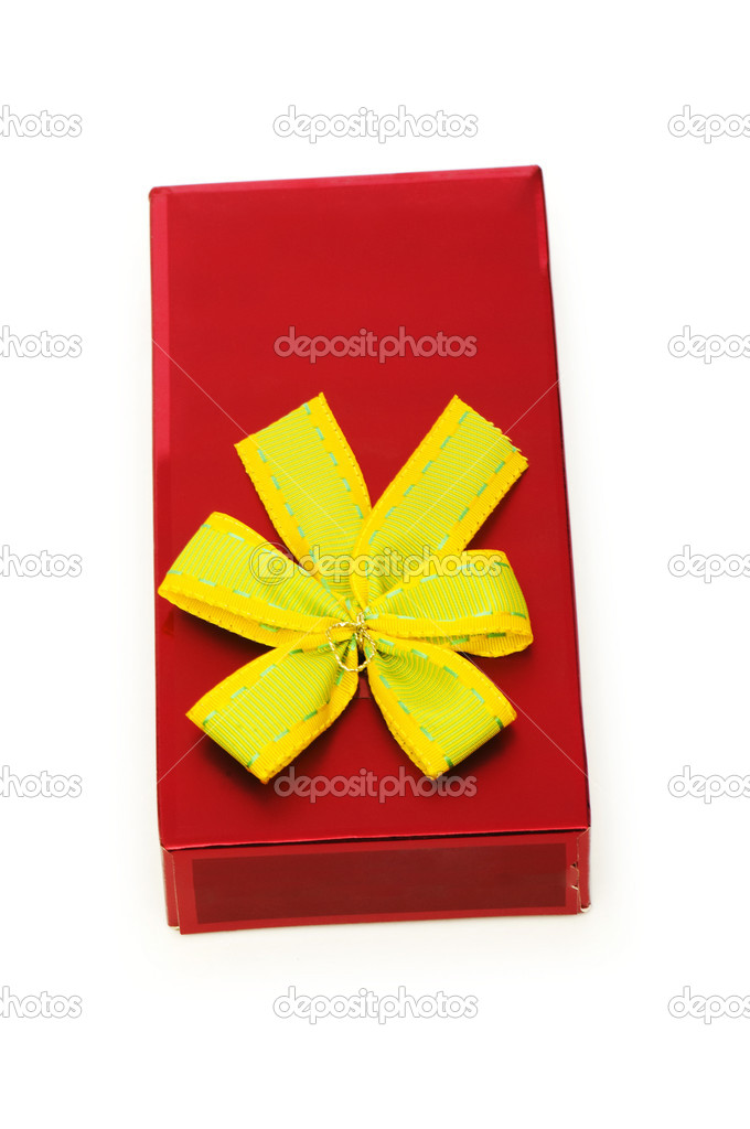 Gift box isolated on the white background — Stock Photo #2869209