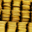 Close up of the golden coin stacks — Stock Photo #2870459