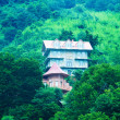 Foto Stock: Mansion in middle of mountain