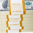 Stack of dollars isolated — Foto de Stock