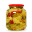 Pickels jar isolated on the white — Stock Photo