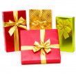 Gift box isolated on the white — Stock Photo