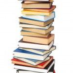 üzerinde beyaz izole kitap yığını — Stok fotoğraf