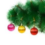 Christmas decoration on the tree — Stock Photo