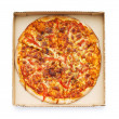 Pizza isolated on the white — Stock Photo