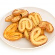 Fresh cookies isolated on the white — Stock Photo