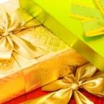 scatola regalo isolato su bianco — Foto Stock