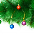 Christmas decoration on the tree — Stockfoto