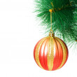 Christmas decoration on the tree — Foto Stock