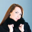 Portrait of a young woman wearing coat — Stock Photo