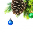 Christmas decoration on the tree — Stock Photo