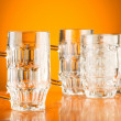Beer glass against gradient - Stock Photo