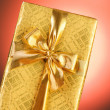 Gift box against gradient background — Stock Photo #2875990