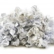 Recycling concept with lots of paper — Stock Photo
