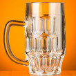Stock Photo: Beer glass against gradient