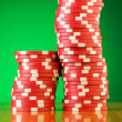 Stack of casino chips - Foto de Stock
