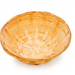 Woven basket isolated on the white — Stock Photo